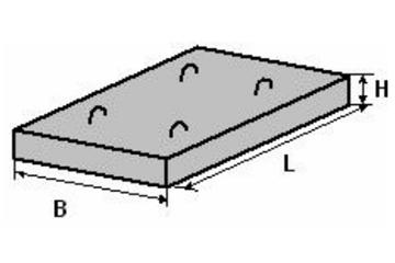 Фундаментная плита железобетонной прямоугольной водопропускной трубы Ф1