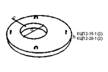 Крышка колодца КЦП 2-20-1     (2ПП 20-1)