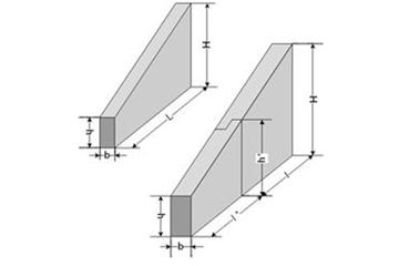 Откосная стенка прямоугольной трубы Ст.4 (Б-38)